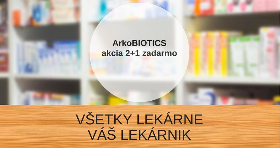 ArkoBIOTICS 2+1 zadarmo –VÁŠ LEKÁRNIK